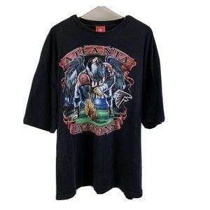 Vintage NFL Atlanta Falcons Black Graphic T Shirt